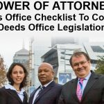 POWER OF ATTORNEY The Deeds Office Checklist To Comply With The Deeds Office Legislation